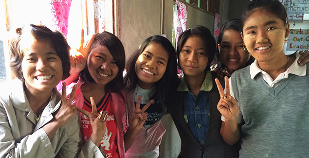 Girls Rights Project with girls in Burma
